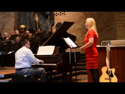 Grace, the sister of David singing Verdi's Ave Maria at David Hirt's Profession of Perpetual Vows