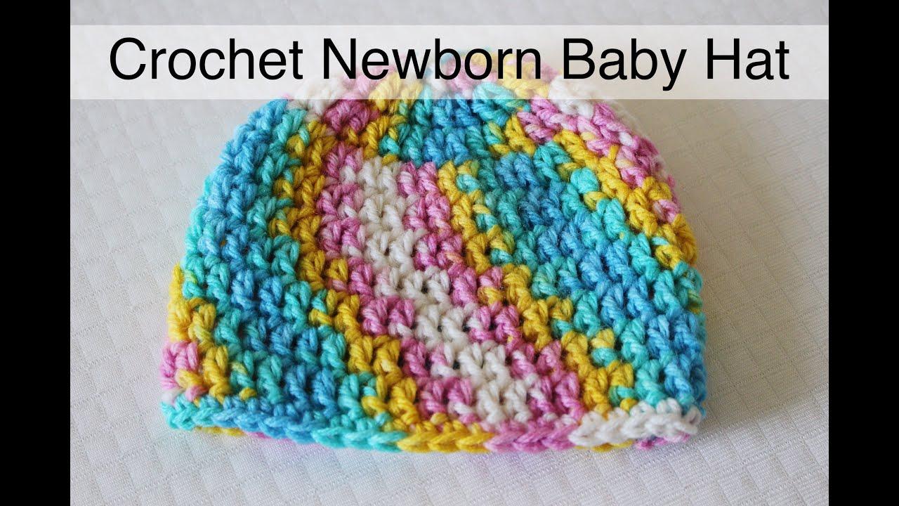 30 minute Crochet Newborn Baby Beanie  74952f2660e