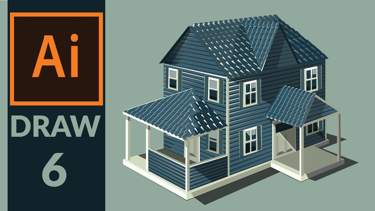 Drawing Production Level Vector House In Adobe Illustrator