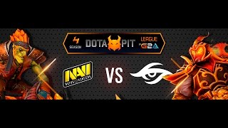 NaVi vs Secret 19.03.2016 Dota Pit Lan Finals Game 1 Русские комментаторы