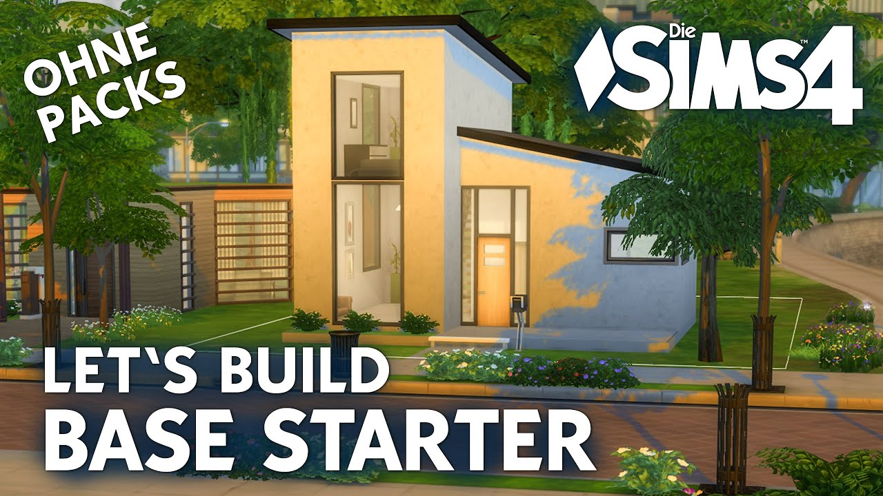 die sims 4 let 39 s build base starter haus bauen ohne packs youtube. Black Bedroom Furniture Sets. Home Design Ideas