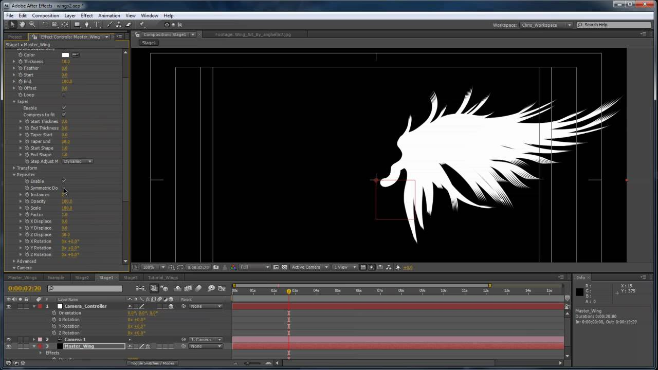 Advanced Angel Wings in After Effects - Part 1