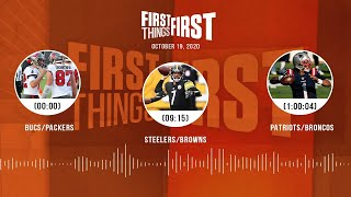NFL Week 6: Bucs/Packers, Steelers/Browns, Patriots (10.19.20) | FIRST THINGS FIRST Audio Podcast