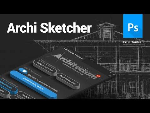 Archi Sketcher Photoshop Plugin - Architectum 3 - Tutorial