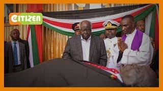 Rais mstaafu Mwai Kibaki afika kumpa heshima zake hayati Moi