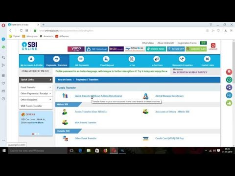 How To Transfer Money From Sbi To Other Bank Account Using The Online Sbi Internet Banking