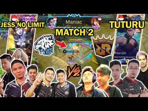 EVOS VS RRQ FULL TEAM MATCH 2! HANABI TUTURU VS IRITHEL JESS NO LIMIT! DUEL MARKSMAN!
