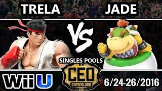CEO 2016 Smash 4 - PG | Trela (Ryu) Vs. Jade (Bowser Jr.) SSB4 - Smash Wii U