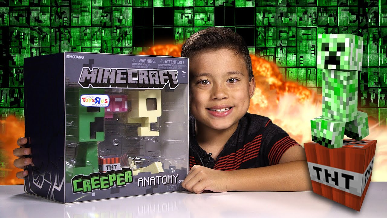 Minecraft Creeper Anatomy Deluxe Vinyl Figure Youtube