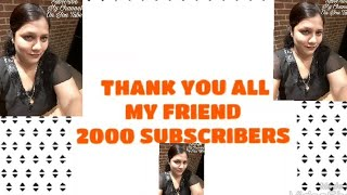 Thank u All My Friends 2000+ Subscribers/Thanks to Allah for blessings