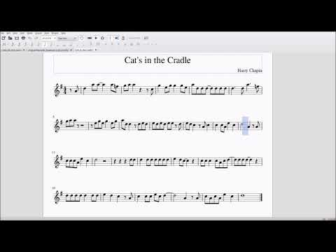 Cat's in the Cradle for Alto/Bari Sax Sheet Music