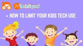 Limit Your Kids Tech Use | Parental Control On Technology For Kids | Introducing Kids To Technology
