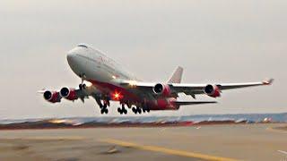 Боинг 747 оглушительный взлет Авиакомпания Россия