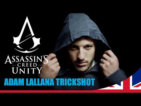 Adam Lallana amazing trick shot at Assassin's Creed Unity photoshoot