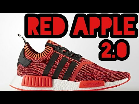 adidas nmd r1 primeknit red apple 2 0