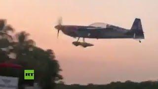 Una avioneta se estrella durante un show acrobático en Guatemala