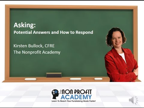 Asking for a Donation: Answers you'll get and how to respond