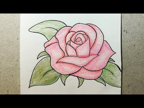 How To Draw A Rose step-by-step slow drawing Tutorial