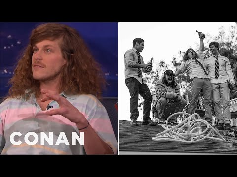 "Blake Anderson & The ""Workaholics"" Really Partied On Their Roof   CONAN on TBS"