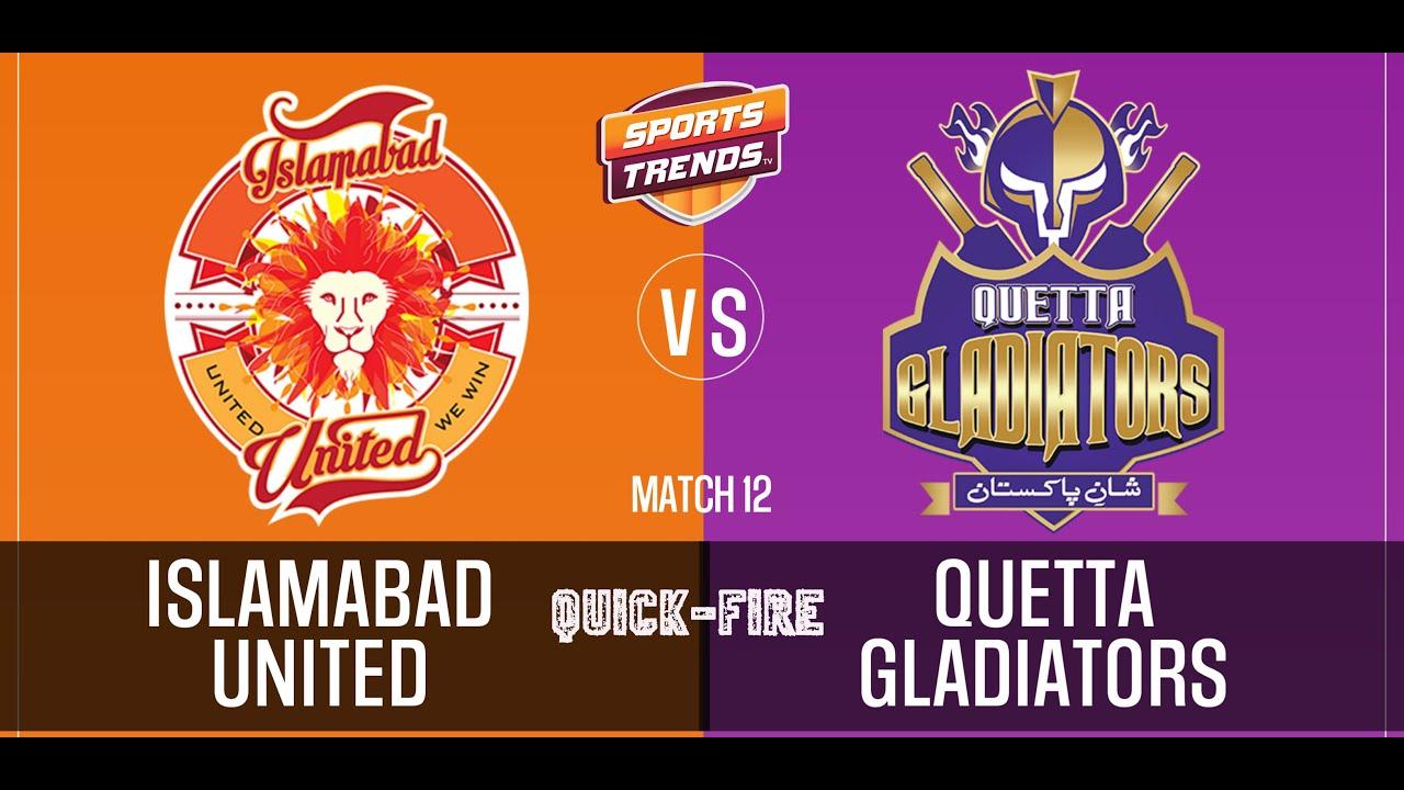 PSL بیٹھک Baithak | Islamabad United vs Quetta Gladiators - Quick-Fire | Match 12 | EP 12 | IUvQG