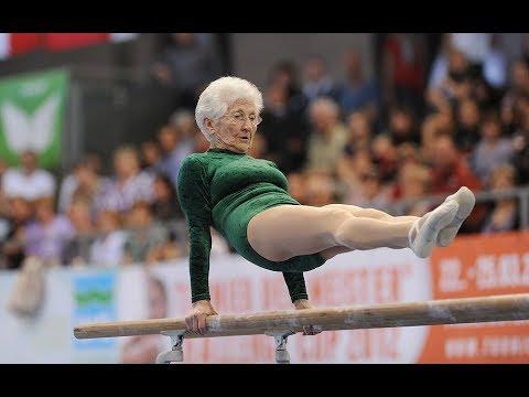 Amazing 91 Year Old Gymnast Johanna Quaas Youtube