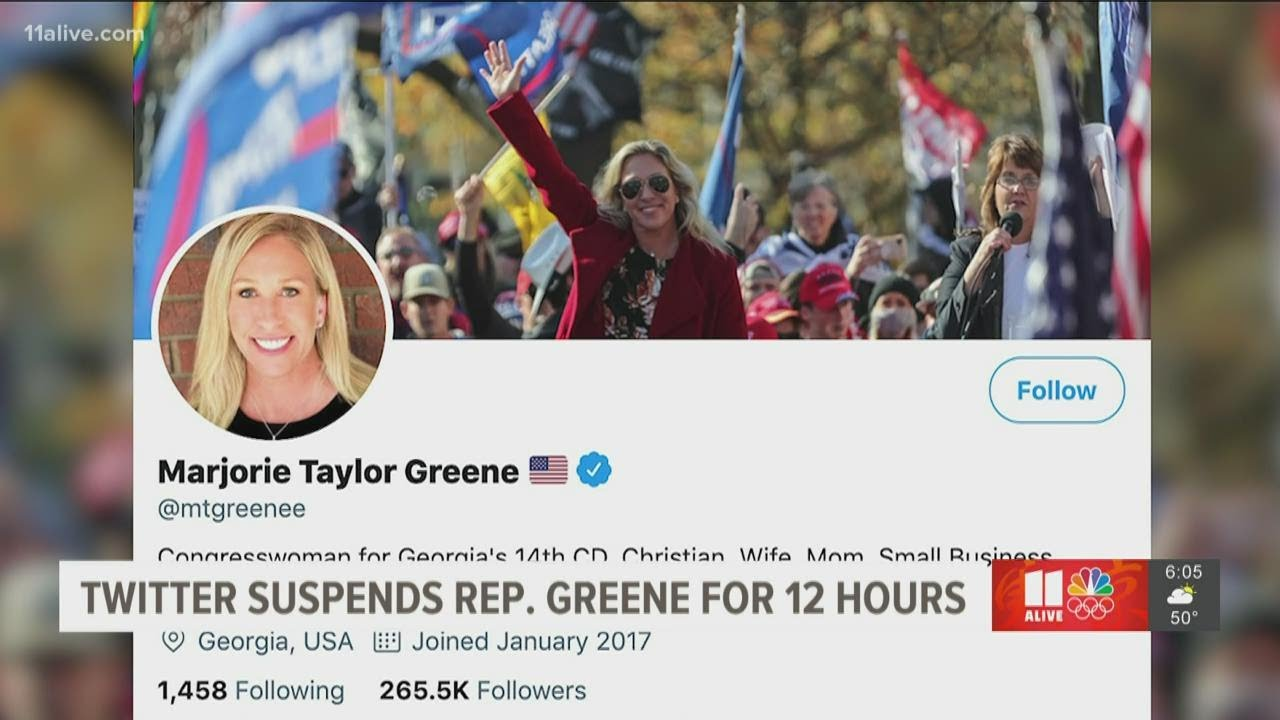 Marjorie Taylor Greene locked out of Twitter
