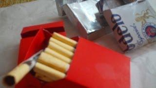 CAJETILLA DE CIGARROS Y CIGARROS DE CHOCOLATE
