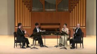 """W.A.Mozart """" Quartet KV.172""""   2nd movt.  Adagio  /   Clarinet Quartet Ensemble Sonorité"""