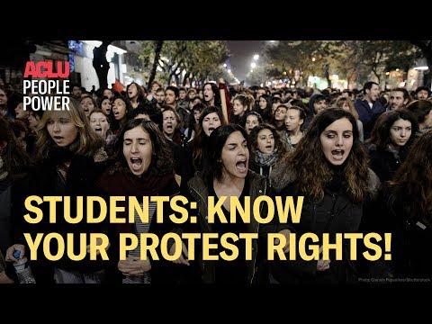 Students! Know Your Protest Rights (with the ACLU)