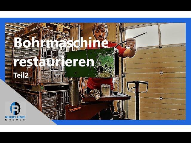 Bohrmaschine restaurieren, reinigen und lackieren - Teil 2