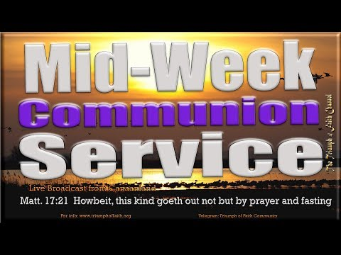 Mid-week Communion Service, January 31, 2018