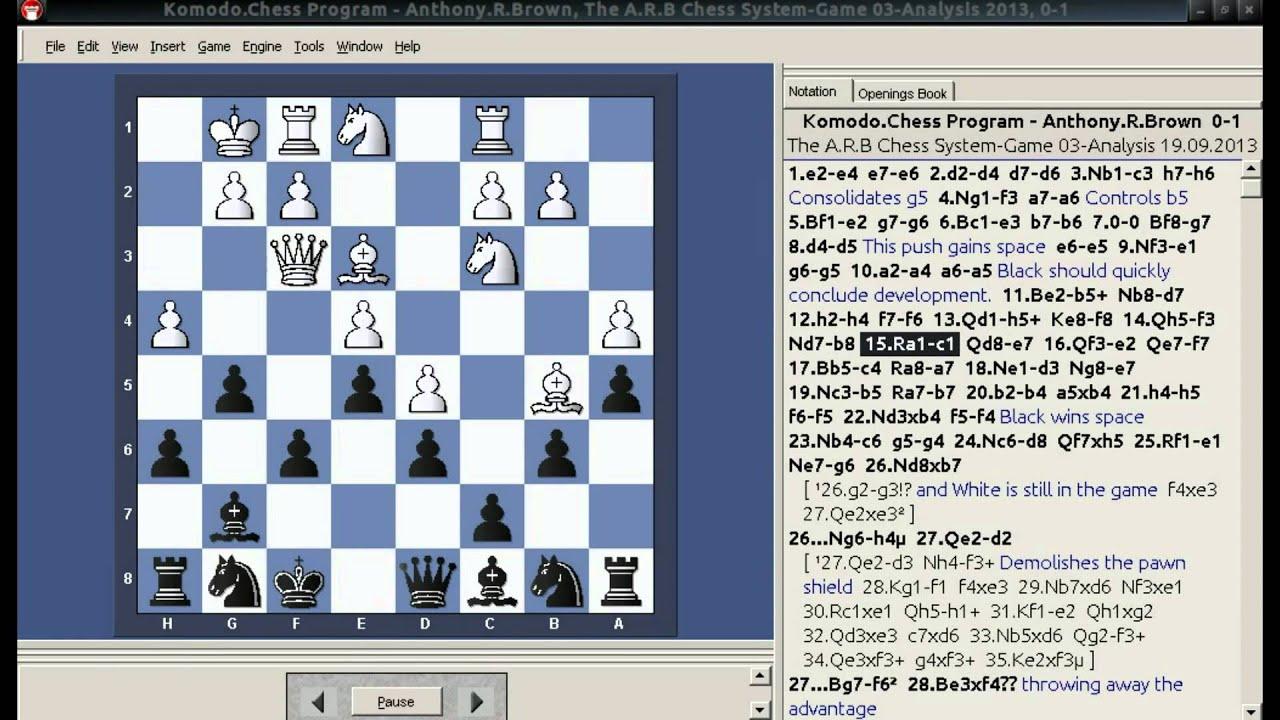 Komodo Chess Program Crushed!! 2 - Using The A.R.B Chess ...  Komodo Chess Pr...