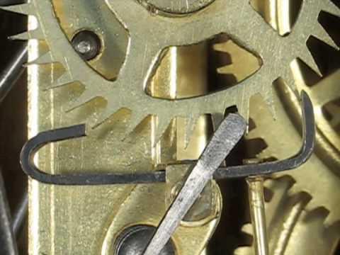 The recoil clock escapement showing excess entry drop