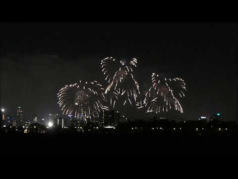 Snippet of Perth 2018 Australia Day Fireworks 2