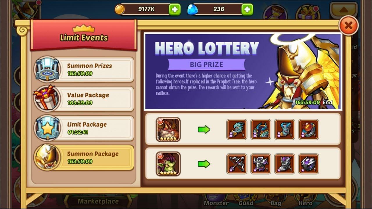 idle heroes casino event rewards