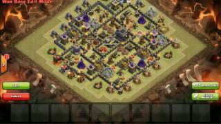 COC-clash of clans new TH9 Anti war base speed build with replays