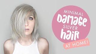 DIY Silver Hair AT HOME with Minimal Damage! + DIY Toner!