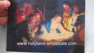 Holy Land 3d Lenticular Hologram Nativity Scene
