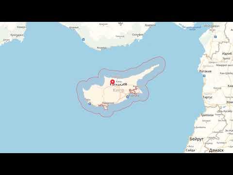 Где находится Кипр? — страна на карте мира