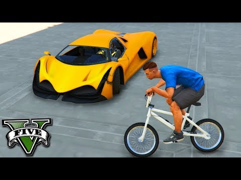 GTA V Online: BMX vs NOVO SUPER TRON - O NOVO CARRO do GTA!!!