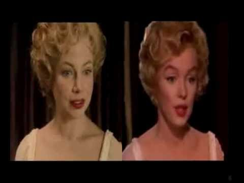 Marilyn Monroe and Michelle Williams side by side - YouTube 796e66d43