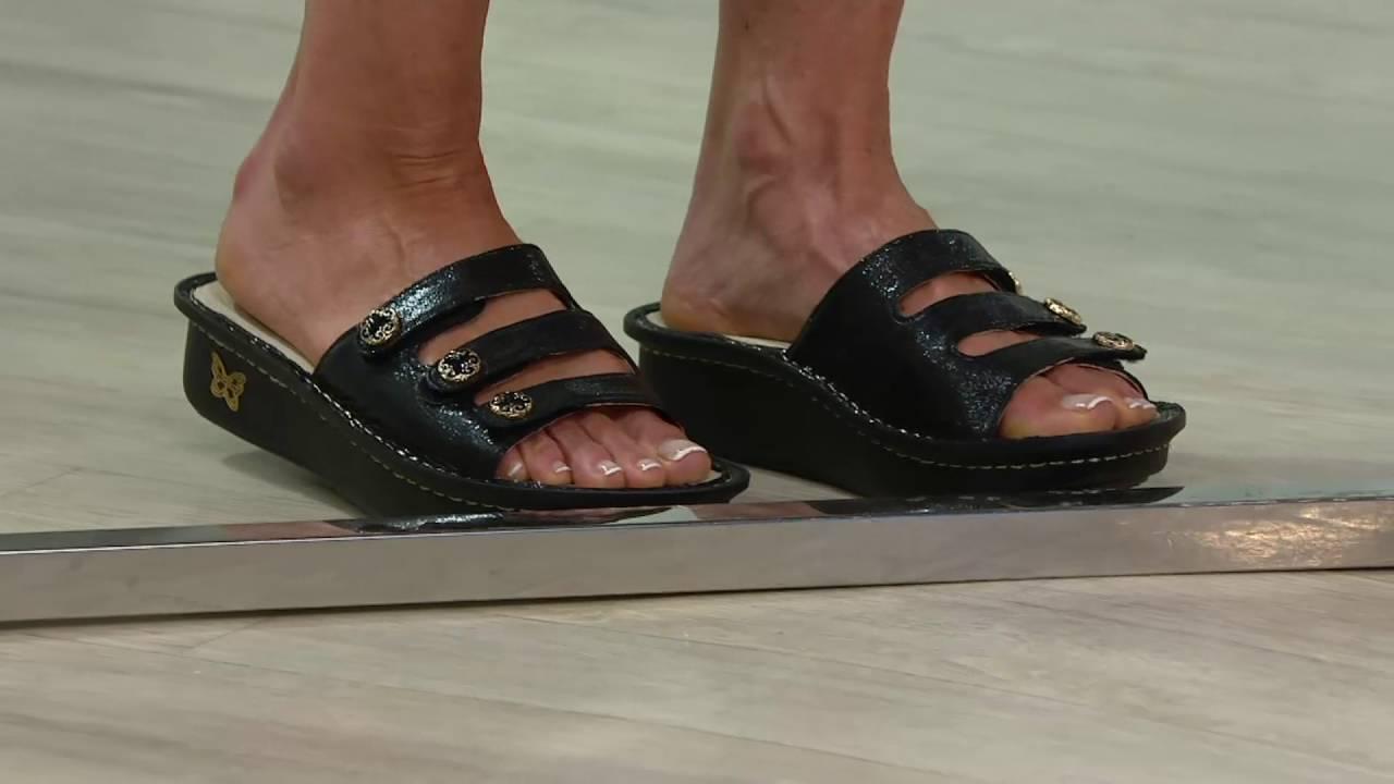 e10bb5de06d Alegria Printed Triple Strap Sandals - Fiona on QVC - YouTube