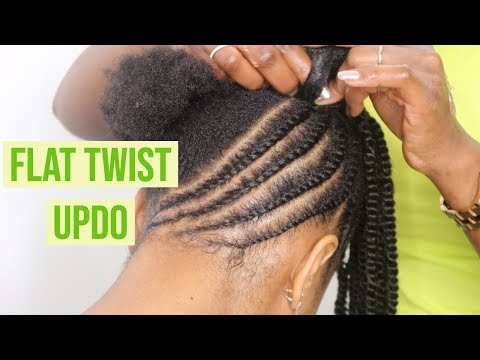 flat-twist-updo-|-protective-style