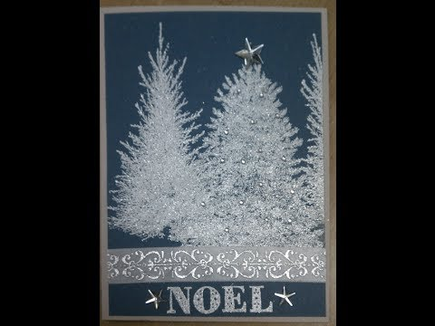 Pine Tree Noel Handmade Christmas Card YouTube