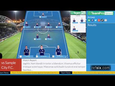 TeamPro - How to add a match report