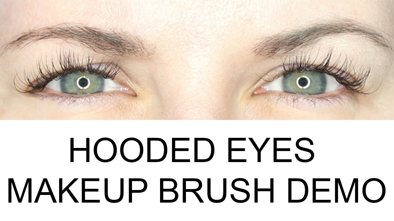 What Are Hooded Eyes? Makeup Brushes Demo for Hooded Eyes - YouTube