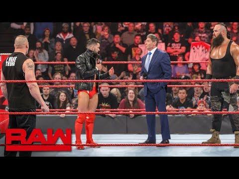 Finn B�lor stands up to Brock Lesnar, Braun Strowman and Mr. McMahon: Raw, Jan. 21, 2019