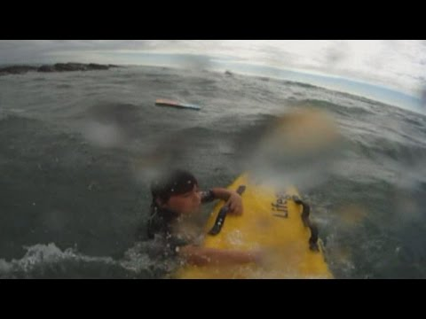 Dramatic rescue: Boy saved from rip current by RNLI lifeguard
