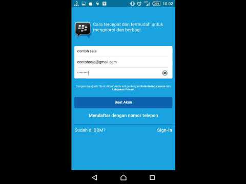 cara daftar baru BBM dan sign in aplikasi BBM