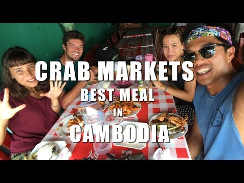 27 | CRAB MARKETS - BEST MEAL IN CAMBODIA!! (Southeast Asia Travel VLOG)